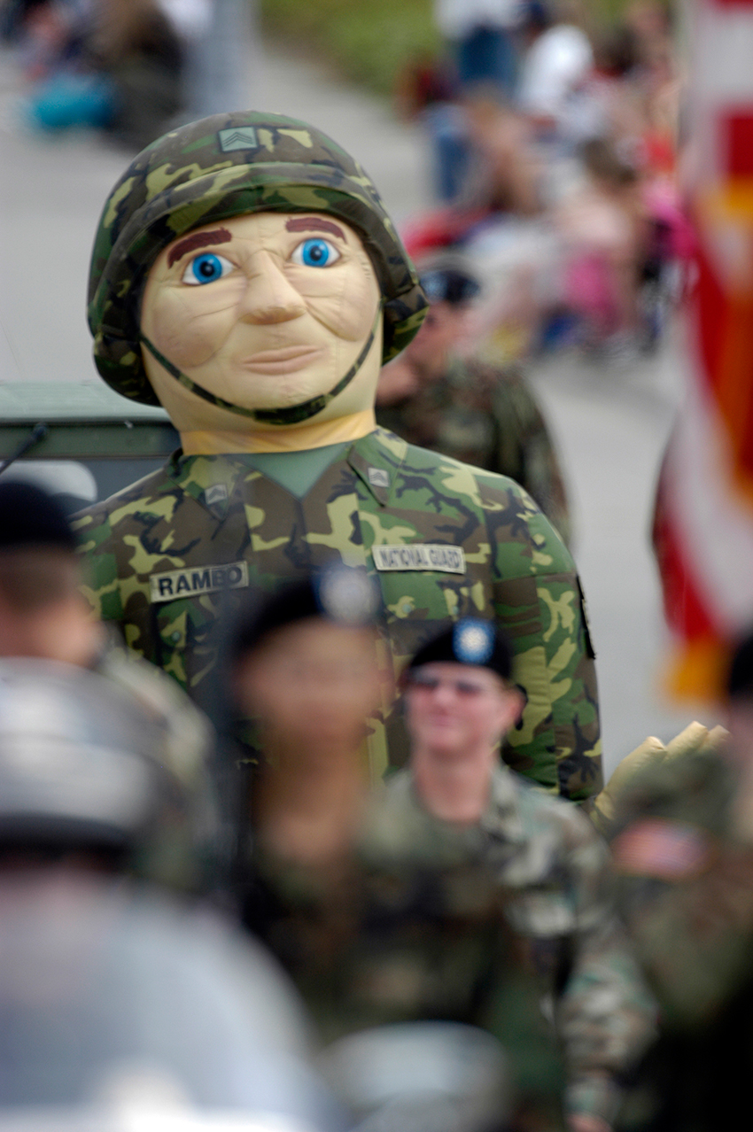 army soldier in parade